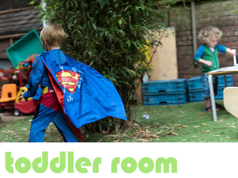 the toddler room at minihome nursery in stoke newington n16
